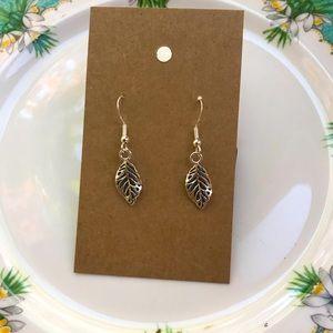 Small dangly leaf earrings